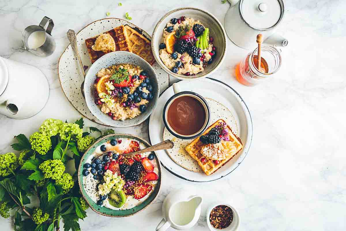 Fruit Salad with Honey and Orange Juice
