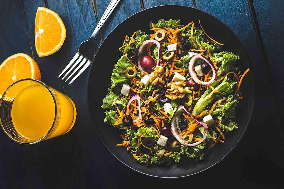 Mixed Greens with Orange Juice Vinaigrette Recipe